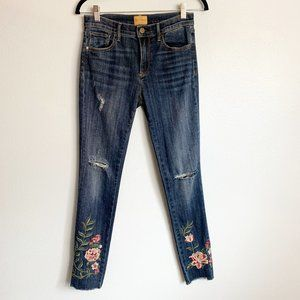 Driftwood Jackie High Rise Embroidered Skinny Jean